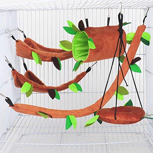 Parrot ladder houten training ladder creatieve swing speelgoed vogel papegaai hamster suiker zweefvliegtuig,Brown