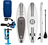 iRocker Paddle Boards Inflatable 11-Feet Long X 6-Inch Thick SUP Package, White