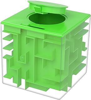 Eschone Money Maze 拼图盒,独特钱礼盒,趣味迷宫拼图游戏适合儿童和成人生日 小号 绿色