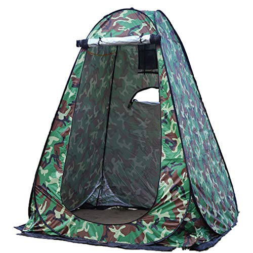 ZOSUO Portable Tente De Douche Camping, Tente de confidentialité Étanche Cabine De Changement Extérieur Pêche Personnels pour La Tentes De Toilette Abri De Plein Air, 150 * 150 * 190 CM,Vert