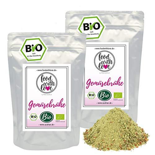 Azafran BIO Gemüsebrühe (Gemüsebouillon, Gemüsesuppe), Brühe ohne Hefe, Glutamate, Fett, Geschmacksverstärker - Salzarm 1kg / 44 Liter