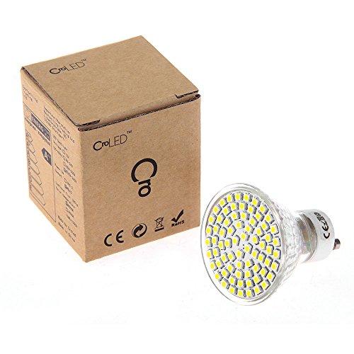 fitTek CroLED 4 GU10 3.5W 220-240V AC LAMPADE LAMPADINE BULBI 72 LED SMD BIANCO CALDO