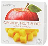Clearspring Organic Apple and Mango Fruit Puree 2 X 100 g (Pack of 12)