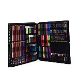 LiChaoWen Arte Profesional Conjunto 288 Unidades De Lápices De Colores Art Set Adecuado for Niños Y Principiantes Pintura for Regalos De Cumpleaños (Color : Black, Size : Free Size)