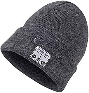 Winter Sports Smart Wireless Bluetooth Headset Knitted hat hat Headset Bluetooth Fashion Music Player hat Headset (Color :...