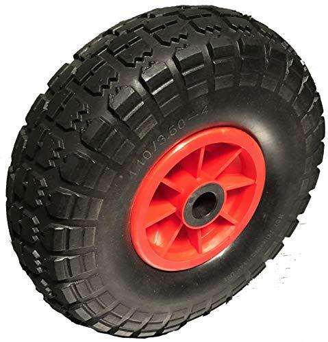 Rollentechnik - Rueda para carretilla, 2 unidades, PUR, 260 mm, 3.00-4, resistente a pinchazos, rueda para carretilla, rueda de carretilla