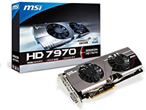 MSI AMD Radeon HD 7970 3GB GDDR5 Overclocked Edition PCI Express 3.0 Graphics Card R7970 TF 3GD5/OC BE