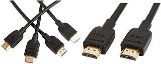 Amazonベーシック HDMIケーブル 1.8m (タイプAオス - タイプAオス/イーサネット/3D/4K/オーディオリターン/PS3/PS4/Xbox360対応)2点セット ハイスピード & HDMIケーブル 3.0m (タイプAオス - タイプAオス) ハイスピード