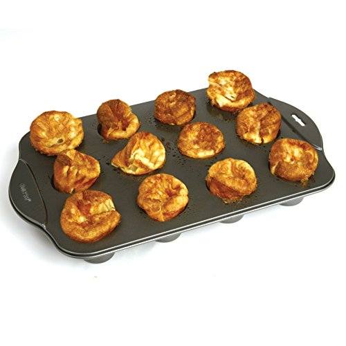 Norpro 3971 Nonstick Mini Popover Pan, 12 Count