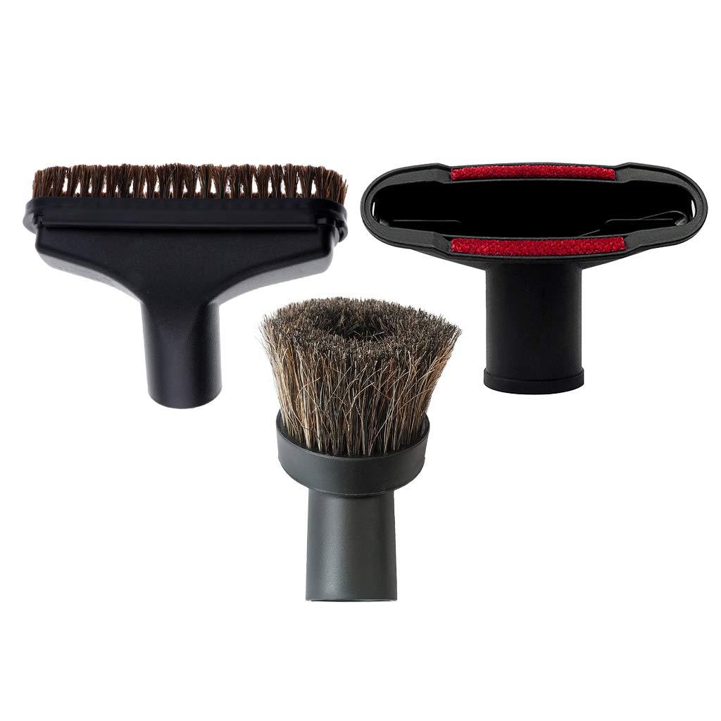 HomeDecTime - Juego de 3 cabezales de cepillo de aspiradora (32 mm, universal): Amazon.es: Hogar