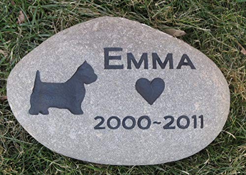 Westie Memorial Stone, Personalized Grave Marker, Dog Headstone, Tombstone 8-9 Inches, All Breeds Available