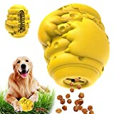 Dog Puzzle Toys Dog Chew Toys for Aggressive Chewers Interactive Treat Dispensing Toy Nearly Indestructible Durable Rubber Teeth Cleaning Toys for Medium Large Breeds