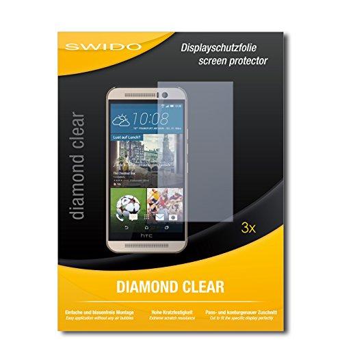 SWIDO 3 x Schutzfolie HTC One M9s Bildschirmschutz Folie DiamondClear unsichtbar