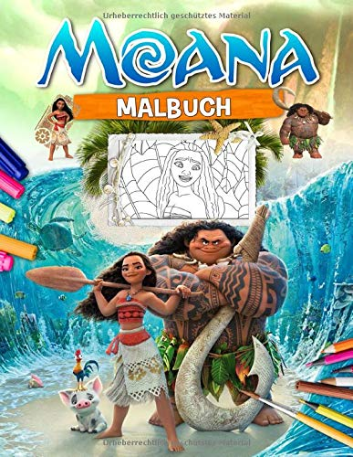 Moana Malbuch: Moana Tolles Malbuch Für Kinder Im Alter Von 4-8 Jahren Mit Exklusiven Bildern