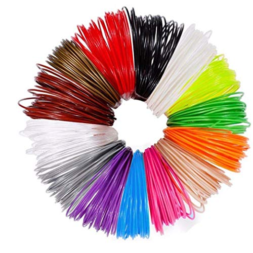 3D Pen Refills High Temperature 1.75MM PLA 3D Printer Filament Refills Different Colors 12PCS Printing Accessories