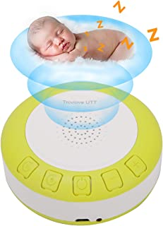 Baby Sleep Soother Sound Machine, Portable Shusher with Auto-Off Timer and Volume Control, for Newborns and Up, Yellow