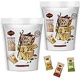 Halva Tahini Bar Mini Snacks – Assortment of 2 Bags Each Contains - 18 Snack-Sized Halvah Pistachio, Vanilla, and Cocoa Bean Israeli Snacks – Vegan, Kosher Snacks with No Gluten or Lactose by Achva, 12 g. Each by Achva