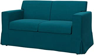 Soferia Replacement Cover for IKEA SANDBY 2-seat Sofa, Fabric Elegance Turquoise