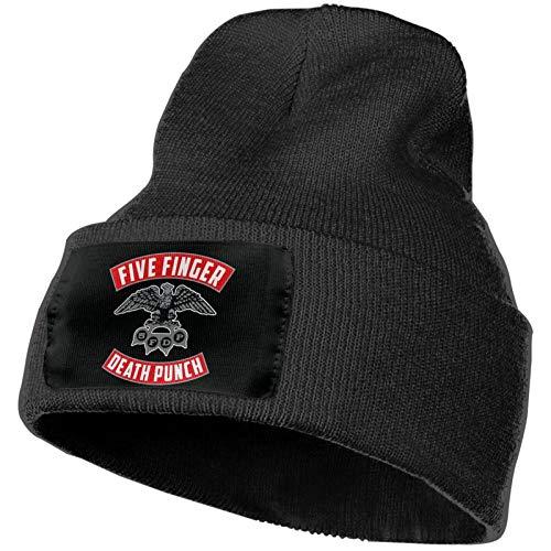 LeonoraVPimend Five Finger Death Punch Unisex Knit Hat Hedging Beanie Cap Knitted Hat Winter Warm Soft Skull Cap Black