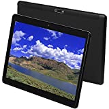Tablet 10 Inch Android 9.0 3G Phone Tablets with 64GB Storage Dual Sim Card 5MP Camera, WiFi, Bluetooth, GPS, Octa Core, HD Touchscreen, Support 3G Phone Call (Black)