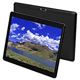 Tablet 10 Inch Android 9.0 3G Phone Tablets with 64GB Storage Dual Sim Card 8MP Camera, WiFi, Bluetooth, GPS, Octa Core, HD Touchscreen, Support 3G Phone Call (Black)