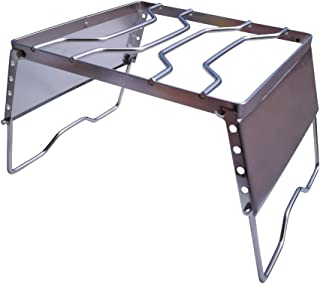 グリルスタンド 焚火台 簡易コンロ ファイヤースタンド 全2タイプ 折り畳み式 ステンレス製 [並行輸入品]