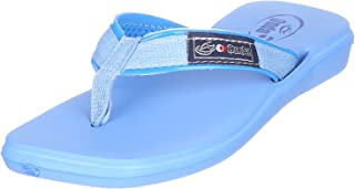 Onda Palma Stitched Front Logo Thong Slippers for Girls 35