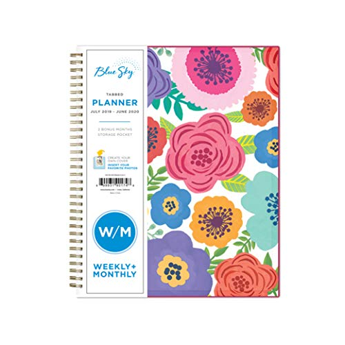 Blue Sky 2019-2020 Academic Year Weekly & Monthly Planner, Flexible Cover, Twin-Wire Binding, 8.5