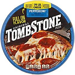 Tombstone Original Classic Frozen Pizza, Pepperoni, 19.3 oz.– Frozen Pepperoni Pizza Made with Real