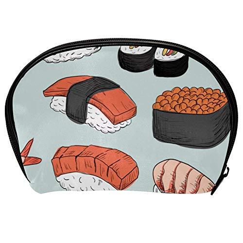 Borsa universale spaziosa per trucchi, cosmetici, beauty case, kit per pulizia viso e sushi, organizer portatile per accessori elettronici