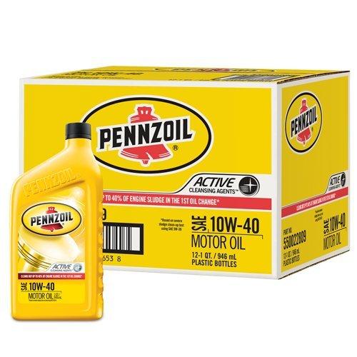 Pennzoil 550022809-12PK 10W-40 Motor Oil - 1 Quart (Pack of 12)