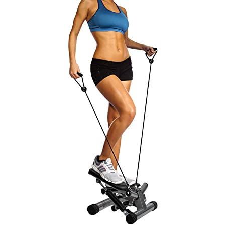 Eletina vipool Stepper with Resistance Bands,Adjustable Mini Steppers for Exercise Stair Stepping Fitness Equipment for Indoor