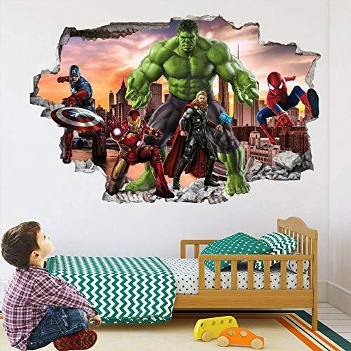 BAOJIAN Wall Sticker Super Heroes Wall Art Stickers Mural Decal Hulk Spider Iron Man EA93