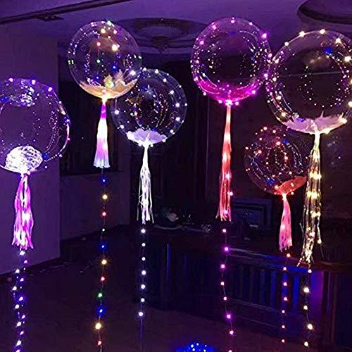 ANNIUP 6 Stück LED-Lichter Party Bobo Luftballons, 45,7 cm Licht, Ballons füllen mit Helium zum Schwimmen für Geburtstag, Weihnachten, Hochzeit, Halloween, Party-Dekoration, bunt