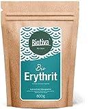 Erythritol Bio 800g - sustituto del azúcar sin calorías de Erythritol - edulcorante para endulzar alimentos y bebidas, cocinar y hornear - embotellado y controlado en Alemania.