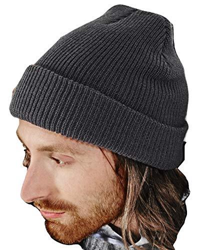 Beechfield B425.GPH Heritage Bonnet Mixte, Noir, Taille Unique