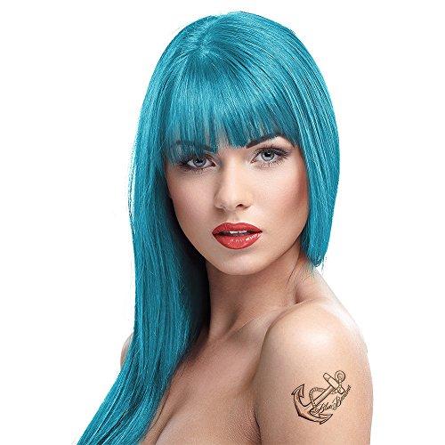 Tinte capilar semi-permanente de Crazy Color 100ml (Blue Jade - jade azul)
