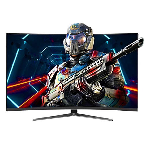 DYYAN 32inch Game Computer Monitor VA Curved Screen PC Monitor HDMI Gaming Display Flicker Free, Low Blue Light - Black