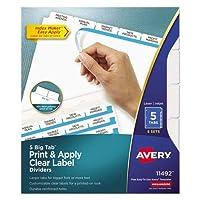 Index Maker with Bigタブ、11x 8–1/ 2、5-tab、ホワイト、5セット/パック、1として販売パッケージ
