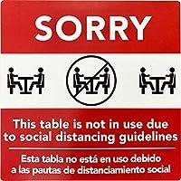 Social Distancing テーブルセッティングラベル 取り外し可能 粘着 6インチ 合計100枚