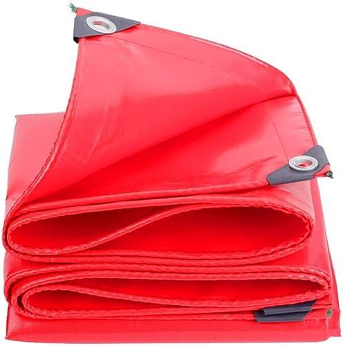 ATR Bache Rouge épaisse Imperméable Prougeection Contre Le Soleil Tissu occultant Multifonction résistant à l'usure (Couleur  Rouge, Taille  4  4m)