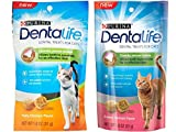 Purina Dentalife Dental Treats For Cats Bundle; Savory Salmon And Tasty Chicken