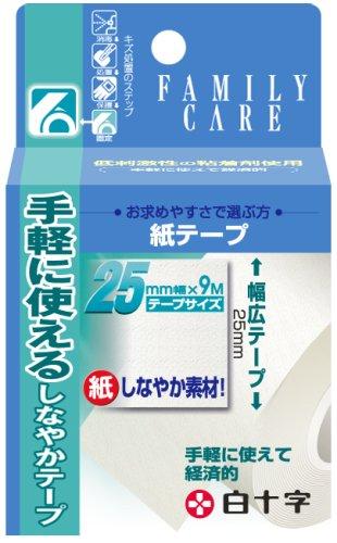 白十字 FC紙テープ 25mmx9m