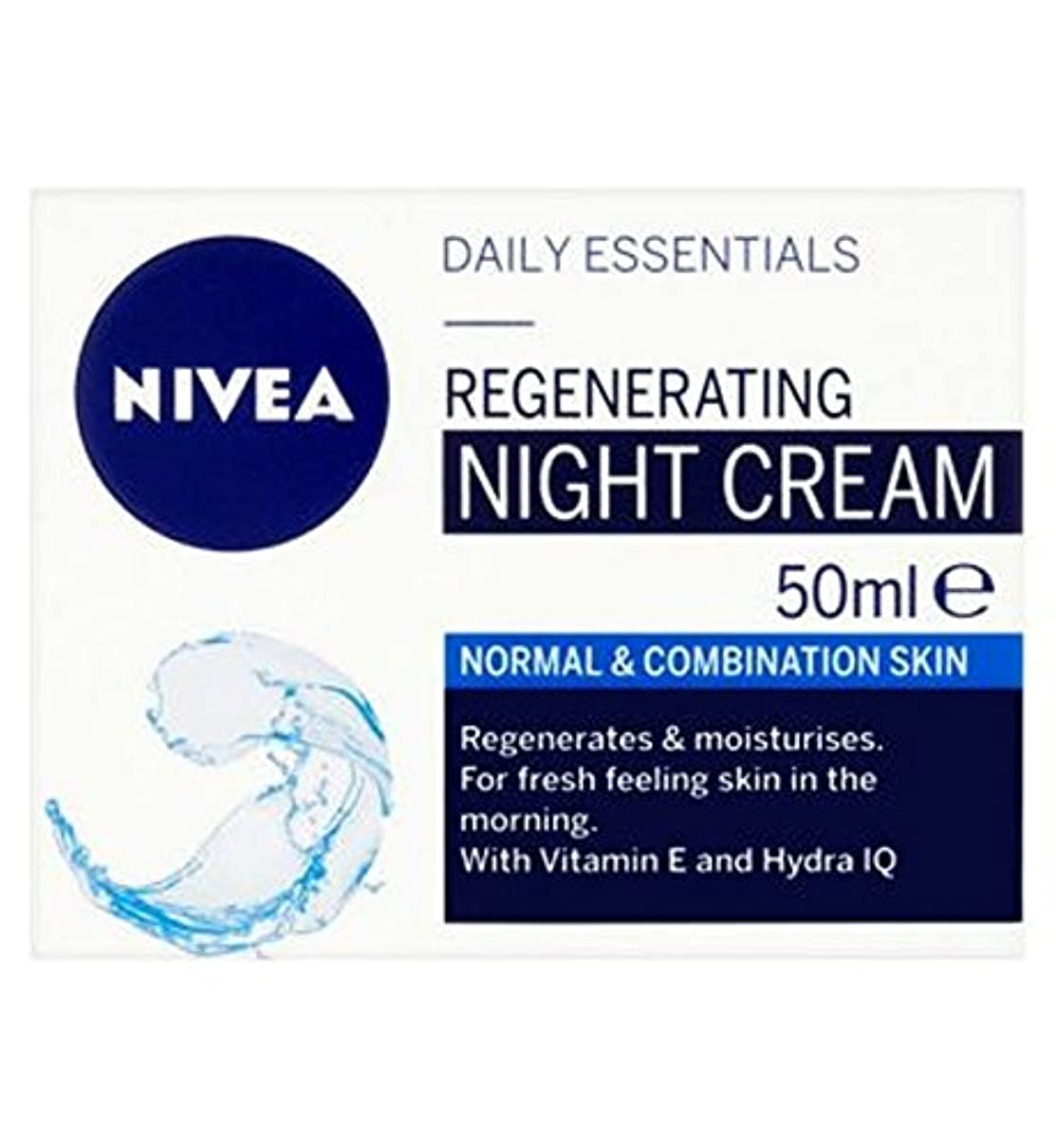 スクラップ権限失効NIVEA Daily Essentials Regenerating Night Cream For Normal and Combination Skin 50ml - ノーマルと組み合わせ皮膚50ミリリットルのためのナイトクリームを再生ニベア生活必需品 (Nivea) [並行輸入品]