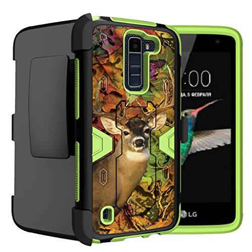 Untouchble Case for LG K7 Case| LG Tribute 5 Case | LG Treasure 4G LTE Case [Mystic Defense] Shockproof Bump Protection Green Case Armor Rugged [Swivel Belt Clip] [Kickstand] - Deer Hunting