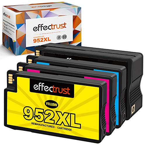 effectrust Remanufactured Ink Cartridge Replacement for HP 952 XL 952XL 952 High Yield for OfficeJet Pro 8710 8720 7740 8740 7720 8730 8210 8715 8216 8725 8702 -New Upgraded Chips (4 Pack)