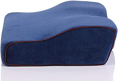 Memory Foam Pillow, Orthopedic Sleeping Cervical Pillows for Neck Pain, Ergonomic Pillow for Side Sleepers with Removable Pillowcase-Navy yy,S