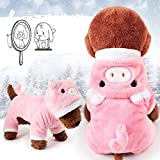 Meihejia Cute Small Dog Sweater Girl Pink Pig Puppy Clothes Hoodie Winter Warm Coat - Only for Small Dogs and Puppies
