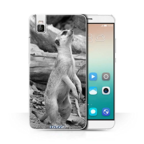 Hülle Für Huawei Honor 7i/ShotX Zoo-Tiere Erdmännchen Design Transparent Ultra Dünn Klar Hart Schutz Handyhülle Hülle