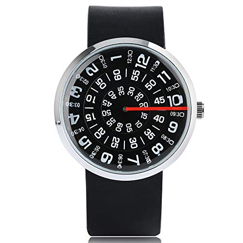 Watches for Men, Creative Turntable Men Watch Unique Rotation Dial Casual...